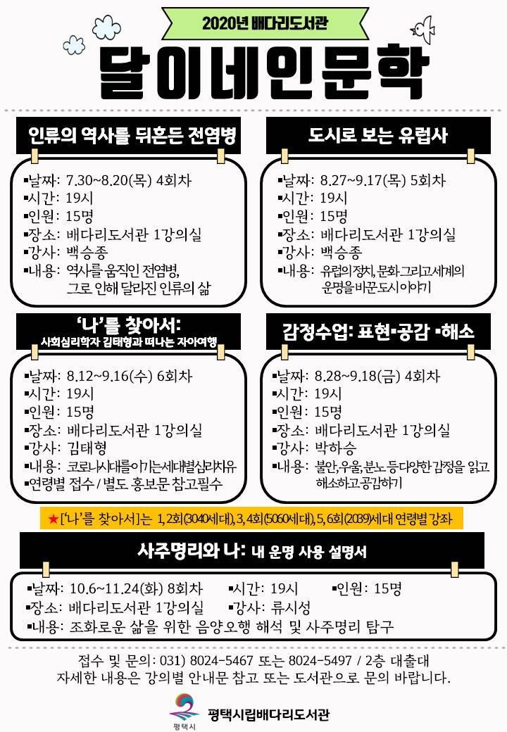 2020년 배다리도서관 '달이네인문학' 문을 열다!