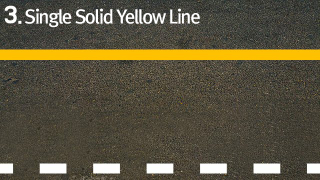 3.Single Solid Yellow Line