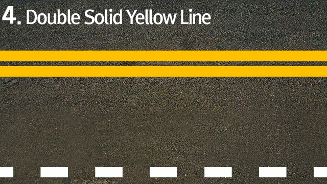 4.Double Solid Yellow Line